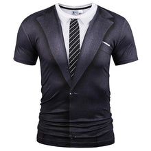 Load image into Gallery viewer, Fake Two Pieces Style T-shirt Men Tees Summer Tops Print Suit Tops Fashion Brand T shirts