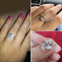 Load image into Gallery viewer, ZN Fashion Rings Show Elegant Temperament Jewelry Womens Girls White Silver Filled Wedding Ring