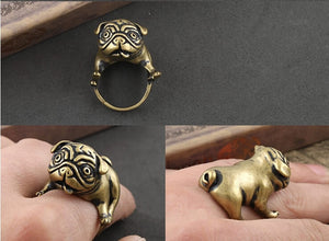 Super Cute Punk Animal Wrap Ring Fashion Cute Vintage Dog Rings Puppy rings for women