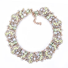 Load image into Gallery viewer, PPG&PGG Luxury Party Jewelry Rhinestone Flower Necklaces For Women Fashion Crystal Charm Choker Statement Collar Necklace