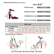 Load image into Gallery viewer, Woman High Heels Wedding Shoes Brand Strap Heels Classic Heeled Sandals 12CM Ladies Red Platform Pumps 014C1734 -35