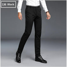 Load image into Gallery viewer, Summer Men's Long Pants Fashion Solid Slim Fit Business Casual Pants