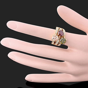 Women's Luxury Cubic Zirconia Crystal  Ring Cocktail Party Jewelry