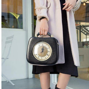 women's clock bag personalized design high-capacity handbag women's shoulder strap Messenger bag