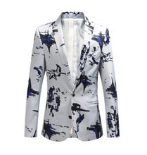 Load image into Gallery viewer, Fashion men blazer Slim fit Casual blazers men Jacket coat men clothes White Navy New Jacket