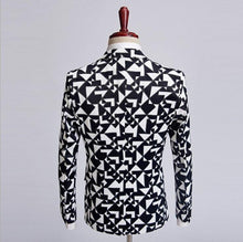 Load image into Gallery viewer, Formal Wear blazer men Black white plaid tuxedos Fashion Style Coat Jacket For men