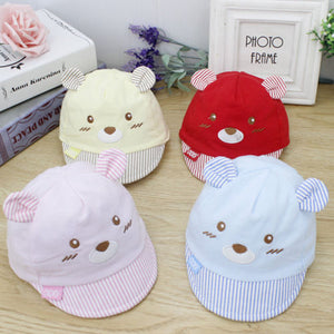 Baby Boys Girls Baseball Cap Toddler Mice Face with Ear Cotton Hat for 1 to 3 Years