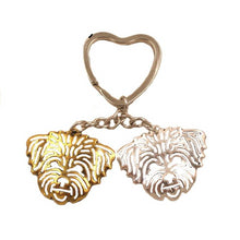 Load image into Gallery viewer, 2018 New Cute Lhasa Apso Dog Animal Purse Handbag Metal Pendant Keychain For Bag Car Women Men Key Ring Love Jewelry K157 - moonaro