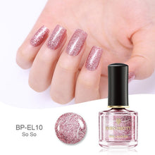 Load image into Gallery viewer, Rose Gold Series Nail Polish 6ml Pink Nude Pure Color Varnish Glitter Sequins Nail Art Lacquer