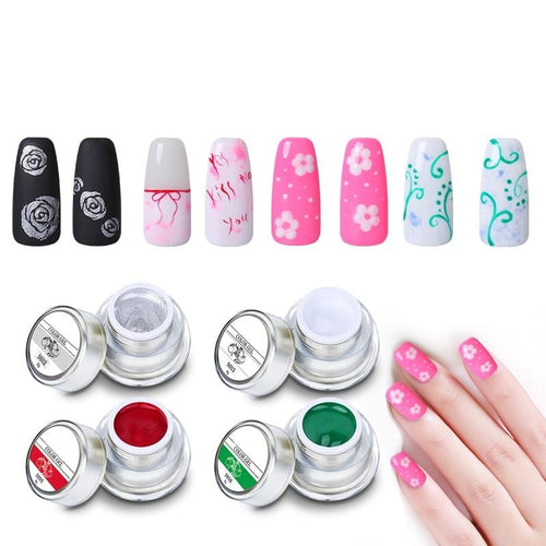 3D Nail Art Paint Color Gel DIY Nail Art Colors Draw Painting Acrylic Color UV Gel Tip 12 Colors Painting Gel In Nail Hot - moonaro