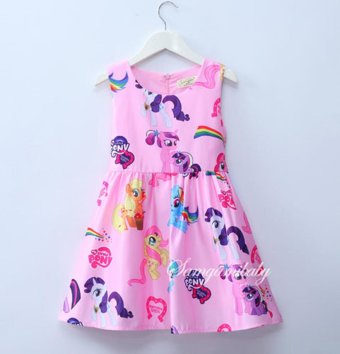 Little Girls Rainbow Princess Party Dresses For Children's Fashion Clothes Baby Christmas Wear