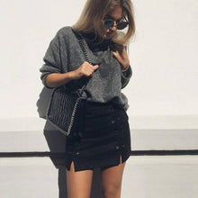 Load image into Gallery viewer, explosion suede bag hip skirt and body bandage