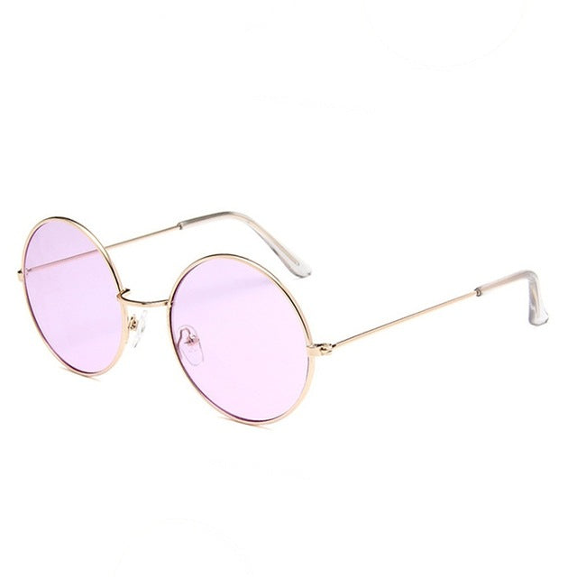 Round Sunglasses Steampunk Shades MultiColor Gradient Mirror Lens Goggles Designer Vintage Sun Glasses