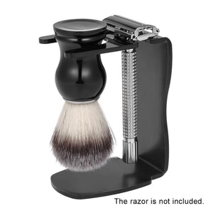 3pcs Male Facial Cleaning Tools Beard Shaving Kit Shaving Brush + Shaving Razor Stand + Soap Bowl Men's Shaving Tool Set - moonaro