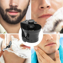 Load image into Gallery viewer, 3pcs Male Facial Cleaning Tools Beard Shaving Kit Shaving Brush + Shaving Razor Stand + Soap Bowl Men's Shaving Tool Set - moonaro