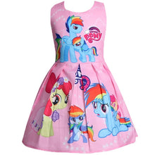 Load image into Gallery viewer, Princess Little Pony Rainbow Dresses For Girls Halloween Birthday Party Vestidos Dress Children Clothing
