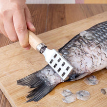 Load image into Gallery viewer, Fish Skin Peeler Scraping Fishing Scale Brush Kitchen Tools Fast Remove Fish Scaler Scraper