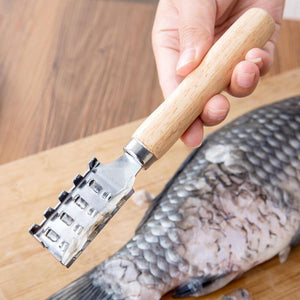 Fish Skin Peeler Scraping Fishing Scale Brush Kitchen Tools Fast Remove Fish Scaler Scraper