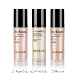 Illuminator Makeup Highlighter Cream for Face and Body Shimmer Make Up Liquid Brighten Professional Glow Kit Cosmetic