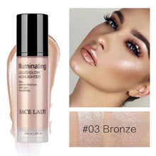 Load image into Gallery viewer, Illuminator Makeup Highlighter Cream for Face and Body Shimmer Make Up Liquid Brighten Professional Glow Kit Cosmetic