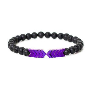 1pcs Volcanic Lava Stone Essential Oil Diffuser Bracelets Bangle Healing Balance Yoga magnet arrow Beads Bracelet For Men Women - moonaro