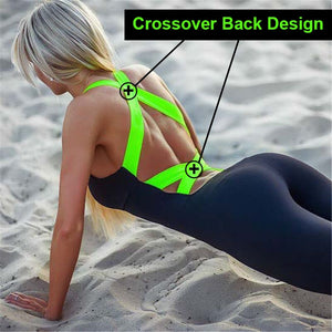 Women One Piece Sport Clothing Backless Sport Suit Running Tight Dance Sportswear Gym Yoga Women Set