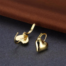 Load image into Gallery viewer, Gold Color Jewelry Fashion Cute Tiny 16mmX11mm Gold Heart Stud Earrings Gift For Girls Kids Lady - moonaro