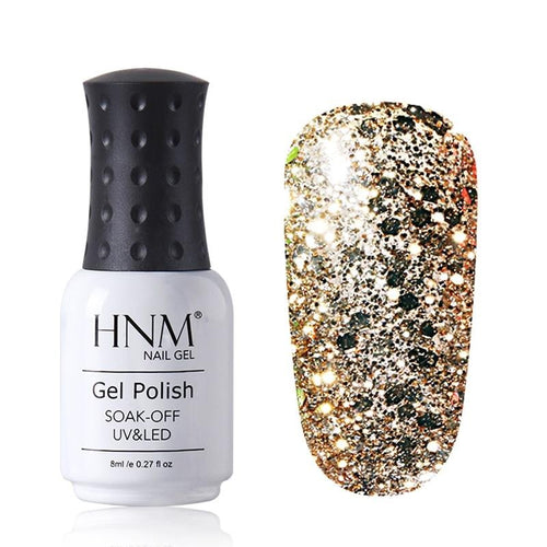 8ML Diamond UV LED Lamp Nail Gel Bling Glitter Paint Gellak Soak Off Semi Permanent Lucky Lacquer Enamel Gel Nail Polish