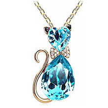 Load image into Gallery viewer, Luxury Wedding Bridal Women Cat Rhinestone Charm Pendant Necklace Party