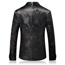 Load image into Gallery viewer, Slim Fit Men Shawl Collar Blazer Fashion Printed Male Stage Wear Casual - moonaro