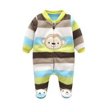 Load image into Gallery viewer, 3M-12M Baby  Winter Warm Fleece Clothing Set for Boys Cartoon Monkey Infant Girls Clothes Newborn Overalls Baby Jumpsuit - moonaro
