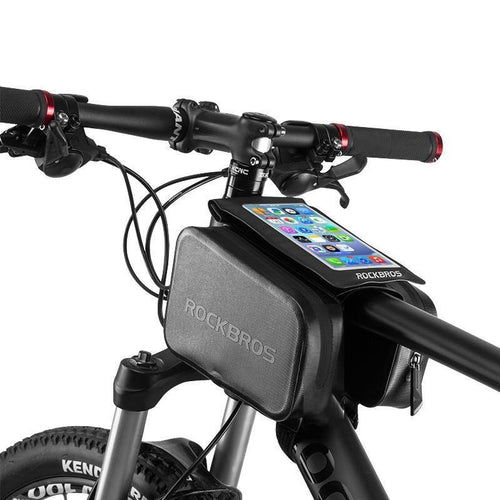 Bicycle Front Head Top Tube Rainproof Bike Bag Double Ipouch Cycling For under 6.0 in Cell Phone