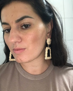 Big Vintage Earrings for Women Gold Silver Black Geometric Statement Earring Metal Earing Hanging Fashion Jewelry - moonaro