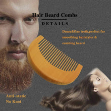 Load image into Gallery viewer, Men's Beard Grooming Kit Included Massage Beard Oil, Mustache Balm,Beard Brush,Comb  Sharp Scissors 5PCS/Set