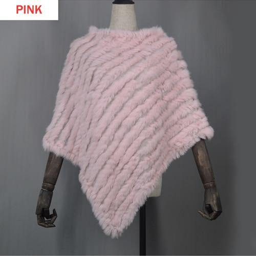 Women Spring Autumn Knit Genuine Real Rabbit Fur Poncho Scarves Real Natural Rabbit Fur Shawl Pashmina Real Rabbit Fur Scarf