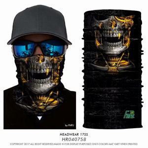 3D Cycling Magic Scarf skull Hiking Neck Warmer Face Mask Head Shield Headband Headwear Men Bicycle Fishing - moonaro