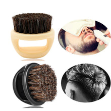 Load image into Gallery viewer, 1 Pcs 100% Boar Bristle Men's Shaving Brush Portable Barber Ring Beard Brush For Facial Cleaning Mustache Tools - moonaro