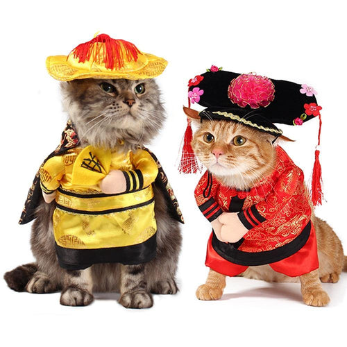 Cat Dog Costume The Chinese Princess With Headdress Halloween Cosplay Clothes For Dogs Cat Clothing Christmas Outfit