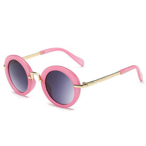 Kids Sunglasses  Girls Fashion Metal Children Sunglasses UV400 Round Sun Glasses