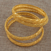 Load image into Gallery viewer, 4 Pieces/Lot Gold Color Bangle for Women Bride Wedding Bracelet Jewelry - moonaro