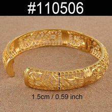 Load image into Gallery viewer, ONE PIECE 24K Bangles Jewellery Bracelets for Women Wedding Jewelry Party Gifts