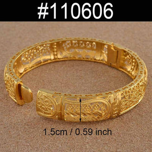ONE PIECE 24K Bangles Jewellery Bracelets for Women Wedding Jewelry Party Gifts