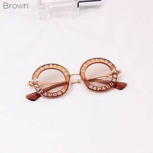 Kids Round Frame Sunglasses Children Glasses UV400 Baby Summer Eyeglasses Vintage Cute Girl Eyewear