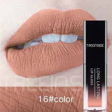Load image into Gallery viewer, 30 Color Matte Lipstick Liquid Lip Gloss Waterproof Makeup Long Lasting Mate Nude Tint Lipgloss Red Purple Black Makeup For Women - moonaro