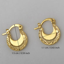 Load image into Gallery viewer, Anniyo (Width 1.5CM/1.1CM) Kids Earrings Gold Color SMALL Earring Girls Fashion Jewelry - moonaro
