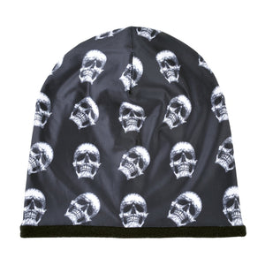 Fashion Skull Pattern Hats For Men Winter Warm Skullies Beanies Women Thick Ski Caps Unisex Hip Hop Punk Cool Bone Gorro - moonaro