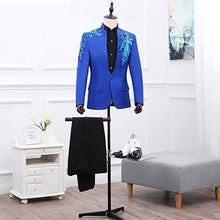 Load image into Gallery viewer, Casual Party suits for men Formal Wear tuxedos Suits & Blazer men stage 2 pieces Jacket+pants slim fit casual Suits