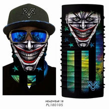 Load image into Gallery viewer, Skull scarf Neck Tubular Cycle Bandana Men Hunting Fishing Bicycle Scarfs Cycling Scarf Neck Warmer Men