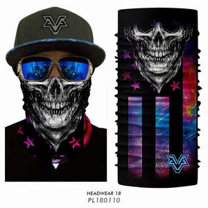 Skull scarf Neck Tubular Cycle Bandana Men Hunting Fishing Bicycle Scarfs Cycling Scarf Neck Warmer Men