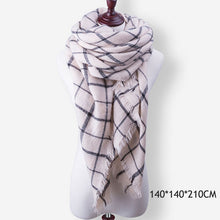 Load image into Gallery viewer, WISHCLUB Plaid Winter Scarf Ladies Brand Warm Scarves Women Fashion Triangle Winter Shawl Blanket Scarf Female